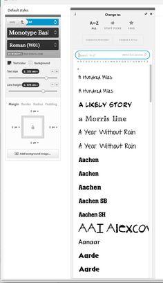 TypeCast Font Picker Panel