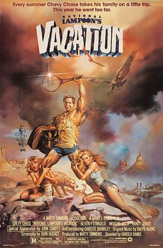 The Art of the Film Poster By Mads Black ·  National Lampoon's Vacation 1983  calls upon the viewer's knowledge of iconic film posters like Barbarella or Conan The Barbarian