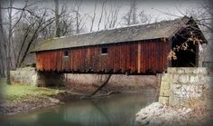 Woolslayer Covered Bridge in Brushcreek Park in Beaver County, PA. I am sucker for covered bridges. Landscape Photos, Landscape Photography, Aerial Photography, Night Photography, Central Park Manhattan, Old Bridges, Honeymoon Places, Chrysler Building, Old Barns