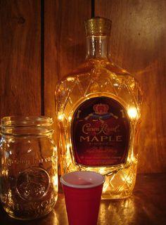 Gift Crown Royal Apple Mini Bottle LED Night Light Whisky Bar Handmade Item