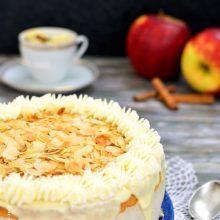 Tort cu cremă de mere coapte şi scorţişoară | Bucate Aromate Tudor, Camembert Cheese, Food And Drink, Mascarpone, Pie