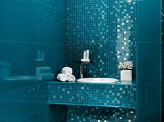 Magnifique ceramic tiles by Atlas Concorde reminds us of a deep blue sea