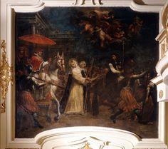 Siena (Italia) - Santuario Casa di Santa Caterina da Siena - Chiesa Crocifisso - Niccolò Franchini - Ritorno di Papa Gregorio XI a Roma - 1769