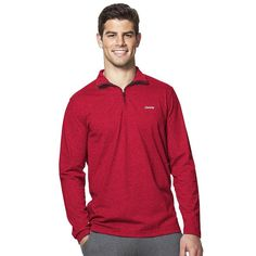 Men's Chaps Classic-Fit Quarter-Zip Pullover, Size: Small, Red