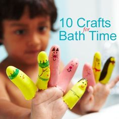 Splish Splash: 10 Crafts for Bath Time...or summertime fun in the kiddie pool :)