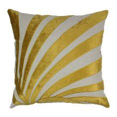 Indian Sun Ray Cotton Throw Pillow