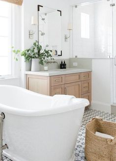 33 Ideas Light Wood Bathroom Floor Cabinets For 2019 Wood Bathroom Cabinets, Bathroom Renos, White Bathroom, Bathroom Flooring, Master Bathroom, Bathroom Ideas, Basement Bathroom, Vanity Bathroom, Washroom