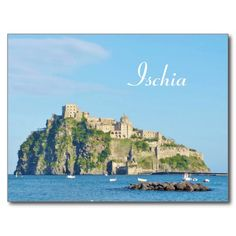 Shop Ischia, Castello Aragonese - Postcard created by stdjura. Souvenirs From Italy, Mediterranean Sea, Naples, Europe, River, Island, Photography, Outdoor, Block Island