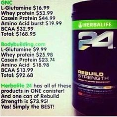 All in 1 Recovery Shake! Herbalife 24 Rebuild Strength!  Get yours today coachronned@gmail.com