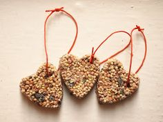 DIY Birdseed ornaments