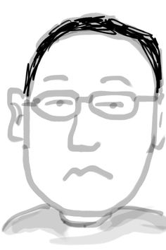 "selfportrait by iPhone app ""Zen Brush""."