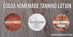 Homemade cocoa tanning lotion recipe
