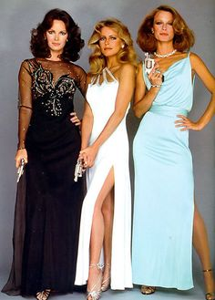 Charlie's Angels TV series 1976 - Jaclyn Smith (L) Cheryl Ladd and Shelley Hack, who replaced Kate Jackson (R) Cheryl Ladd, Jaclyn Smith, Marvel Dc, Good Morning Angel, Shelley Hack, Kate Jackson, Farrah Fawcett, 70s Fashion, Fashion Rocks