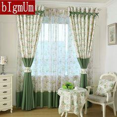 Rustic/Pastoral Window Curtain For Kitchen Blackout Curtains Window  Drape/ Panels/Treatment Home Decor Floral