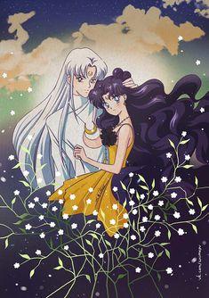 Sailor Moon - Artemis x Luna - Moon Cats Sailor Moon Luna, Sailor Moons, Sailor Moon Crystal, Sailor Uranus, Luna Moon, Sailor Saturno, Sailor Moon Aesthetic, Sailor Moon Wallpaper, Sailor Mercury