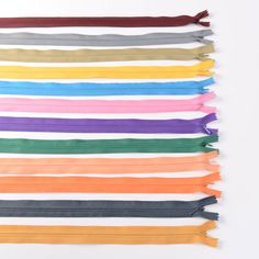 Assorted color invisible zippers