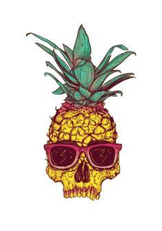 Skull Pineapple Wallpaper