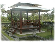 Manufacture, Export of High Quality Bali Gazebo, Balinese Pavillions, Garden Structures, Pool Houses and Architecture from Bali and the islands of Indonesia Gazebo Pergola, Outdoor Gazebos, Outdoor Rooms, Outdoor Living, Pergola Shade, Balinese Garden, Asian Garden, Bali Huts, Garden Huts