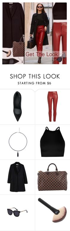 """""""Get The Look: Selena Gomaz"""" by lana-baloley ❤ liked on Polyvore featuring Victoria Beckham, Étoile Isabel Marant, Boohoo, MANGO and Louis Vuitton"""