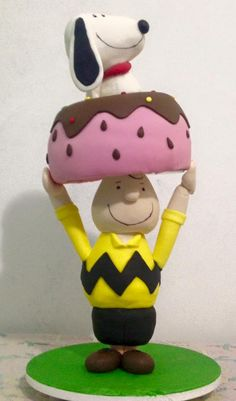#Bolo #CharlieBrown #Snoopy #cake #cakeart #fondant