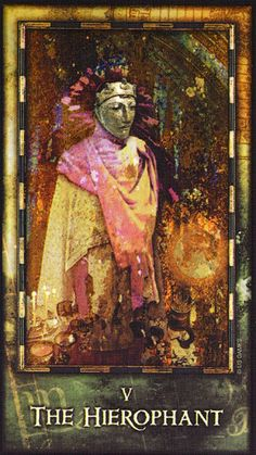 Archeon Tarot. Why does this card speak to me of The Hierophant? Yeah, I know it's The Hierophant. But why this particular card resonates with me is interesting.