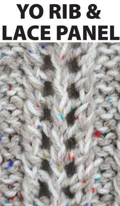 This is a great lace adn YO column that works really well mixed with cables. Really easy and can be customised to make it longer. Come download for free