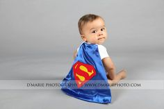 Super hero cape / baby cape/ superman onesie WITH by Sewingmommy, $19.95