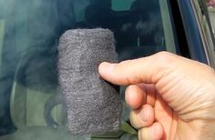 He Rubs Steel Wool All Across His Windshield. The End Result Is The Opposite Of What I Expected