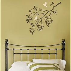 Perfect for my masterbedroom! I'll do it as a tone on tone stencil, using flat & gloss paint... Can't wait!!!