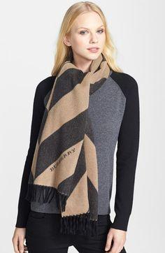 Burberry Striped Silk Scarf @Nordstrom