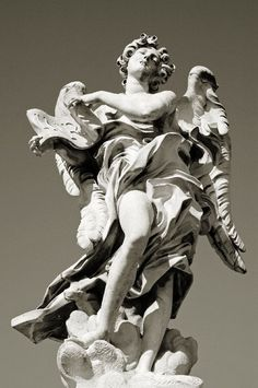 Angel with symbol of the Passion by Bernini (1688), Ponte Sant'Angelo: