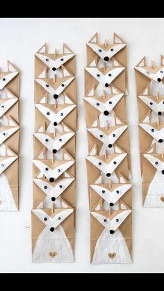DIY einfacher Adventskalender selber machen Kinder Adventskalender, Idee, Tiere, Waldtiere