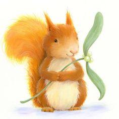 Alison Edgson - squirrel mistletoe 2.jpg