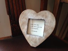 Heart-shaped chunky vintage distressed wood frame with hand-typed lyrics OR quote of your choice. Anniversary Ideas For Him, First Wedding Anniversary, Paper Anniversary, Hand Type, Distressed Wood, Gifts For Mum, How To Distress Wood, Christmas Birthday, Heart Shapes