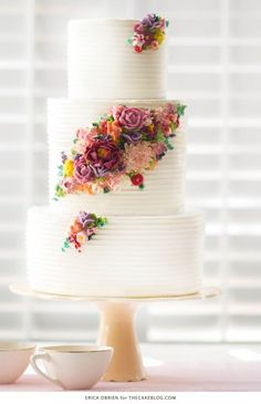 Delicious Floral Wedding Cake