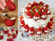 Strawberry Santa Cake Recipe Video Instructions   The WHOot