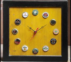 Beer bottle cap clock