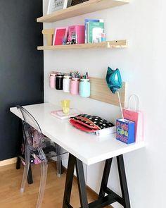 "Estudio Franko & Co. Proyecto ""Unicornio"" de Franko & Co. Study Room Decor, Teen Room Decor, Home Office Decor, Bedroom Decor, Home Decor, Bedroom Ideas, Study Table Designs, Student Room, New Room"