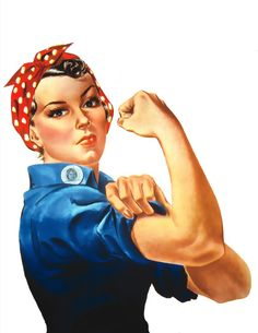 Rosie the Riveter....Remindes me of Andrews Brothers.