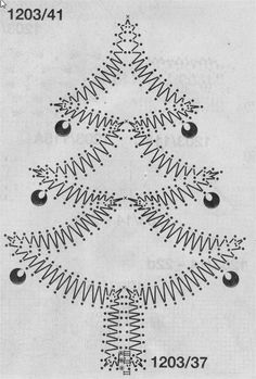"Bobbin Lacemakers Association ""Ibn al Baytar"" lace pattern for Christmas tree"