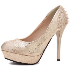 Gold Couture High Heeled Pumps