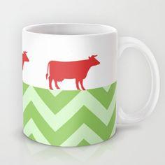 Meuh! Mug #chevron,#cow