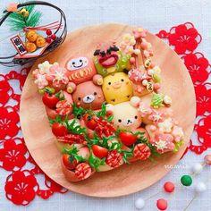 Japanese Snacks, Japanese Food, Rilakkuma, Cute Baking, Cute Food Art, Kawaii Dessert, Good Food, Yummy Food, Bento Recipes