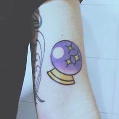 Can you see your future? #inked #inkedmag #tattoo #idea #emoji #crystal #ball #mystical #magic Trendy Tattoos, New Tattoos, Ship Tattoos, Arrow Tattoos, Tatoos, Crystal Ball Tattoo, Emoji Tattoo, Mystical Tattoos, Doctor Who Tattoos