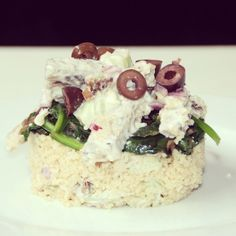 Fresh couscous beef spinach quick easy recipe
