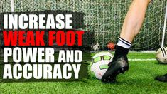How To Improve Weak Foot Shooting Soccer Skills, Soccer Tips, Cristiano Ronaldo Lionel Messi, Neymar, Barcelona Soccer, Fc Barcelona, Soccer Cleats, Nike Soccer