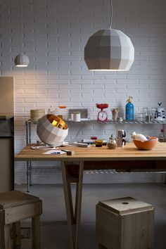 Ceramic Disco Ball Lamps.