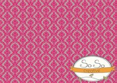 Hot Pink and Gray Damask Backdrop. $50.00 www.sosocreativebackdrops.com