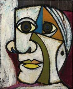 Dora Maar, Portrait de Pablo Picasso (Retrato de Pablo Picasso), 1936, óleo