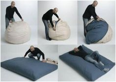 cama plegable puff